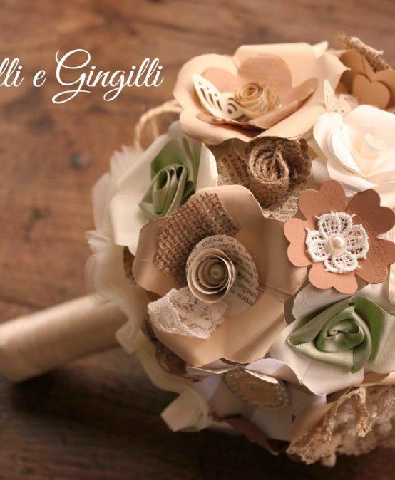 Un bouquet originale con i fiori di carta