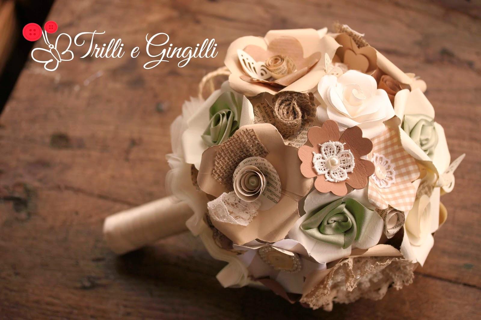 Un bouquet originale con i fiori di carta accademia for Fiori di cartoncino