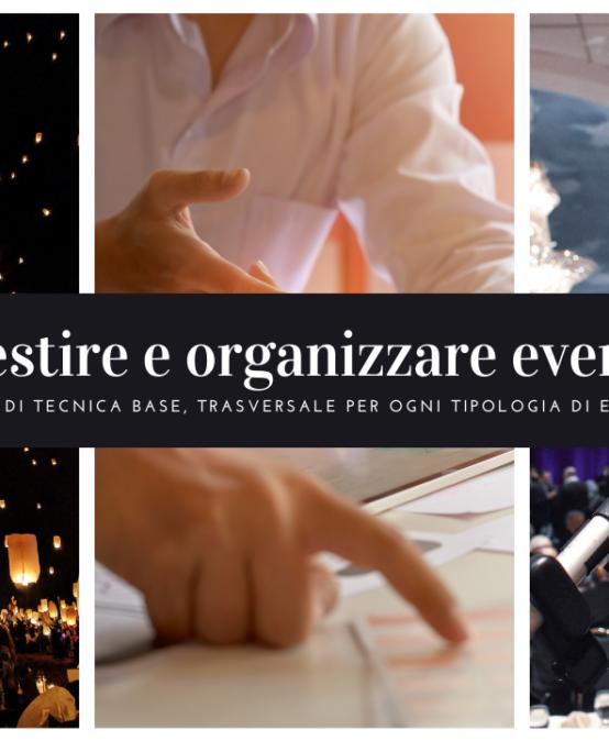 Gestire e organizzare eventi (corso online)