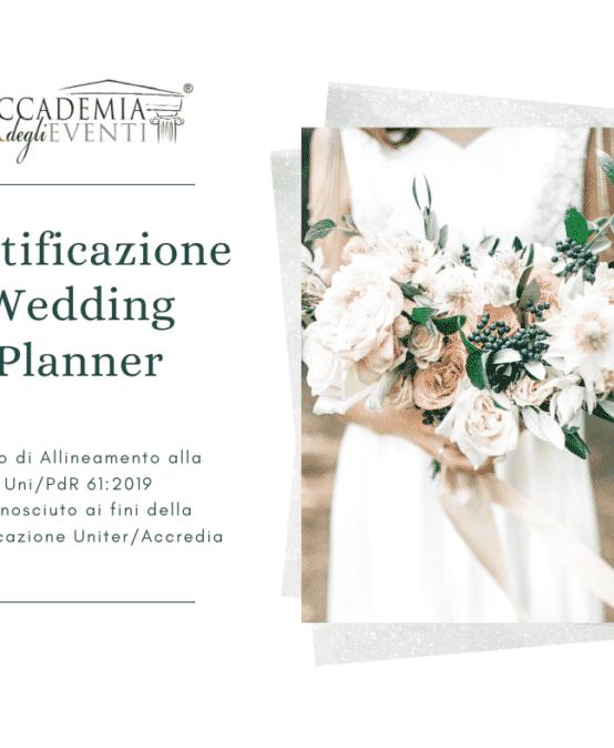 Certificazione Wedding Planner – CORSO di allineamento alla UNI/PdR 61:2019