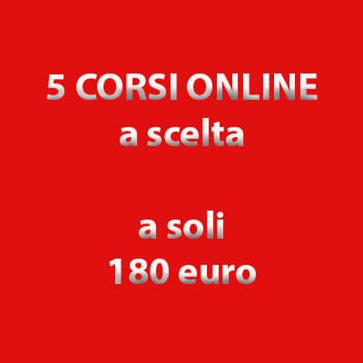 Pacchetto 5 corsi online in offerta
