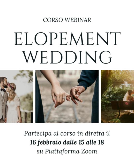 Elopement wedding (corso / webinar)